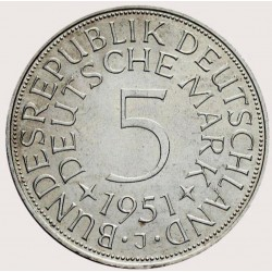5 Deutsche Mark Silver Coin...