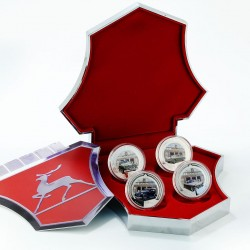 GAZ cars silver coin set