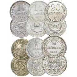 RSFSR&USSR sets of silver...